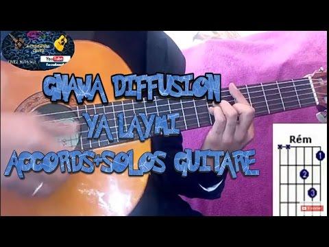 Gnawa diffusion : ya laymi accords+solos leçon de guitare