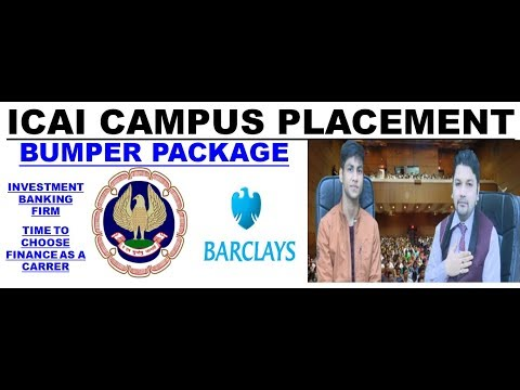 ICAI CAMPUS PLACEMENT IN BARCLAYS.HUGE SALARY.CA CS CMA INTER FINAL FM SFM STUDENTS OPPORTUNITIES