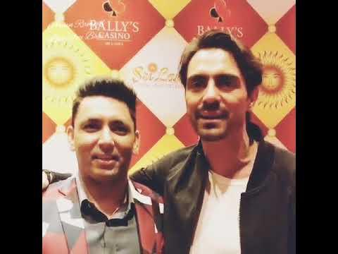 Arjun Rampal with Friend in Bally Casino Sri Lanka
