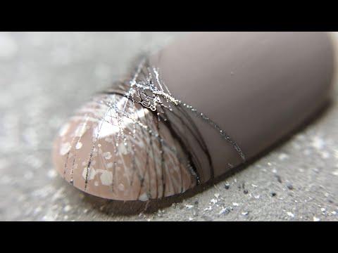 Дизайн ногтей серебро