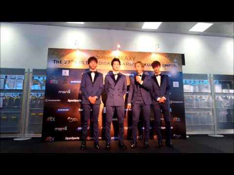 CN Blue - Group Interview - 27th Golden Disk Awards Live in Malaysia 2013 Travel Video