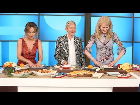 Thumbnail: Ellen and Nicole Kidman Try to Learn Cooking Skills from Giada De Laurentiis