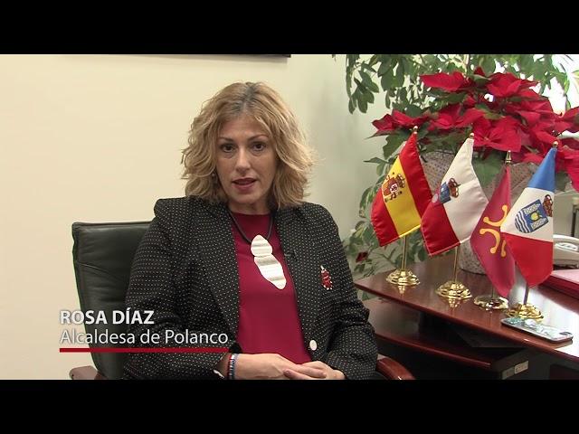 Felicitacion Navidad Rosa Diaz; Alcaldesa de Polanco