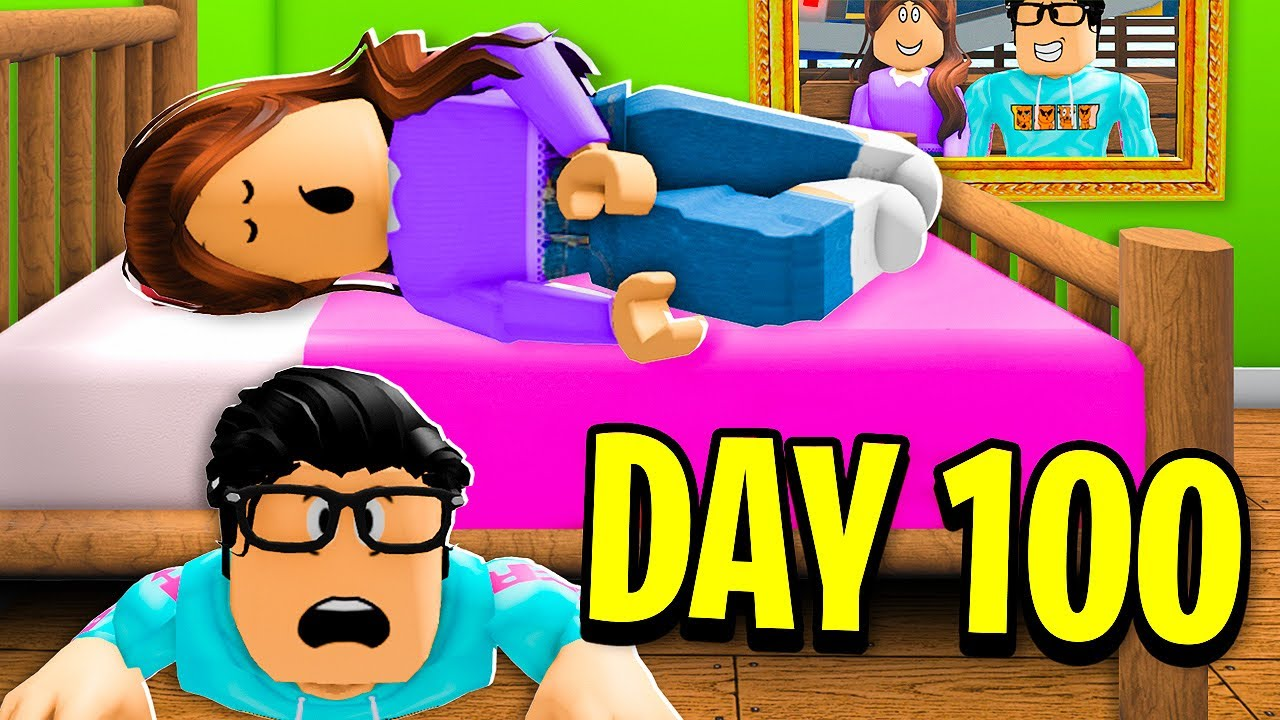I Survived 100 DAYS In EX Girlfriend's House! (Roblox)