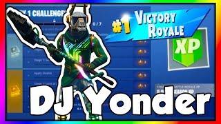 WEEK 1 CHALLENGES WITH THE DJ YONDER SKIN (Fortnite: Battle Royale)