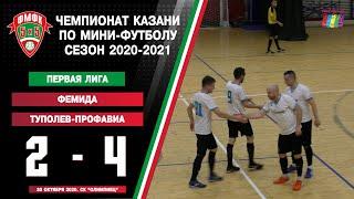 ФМФК 2020 2021 Первая лига Фемида vs Туполев Профавиа 2 4 0 1