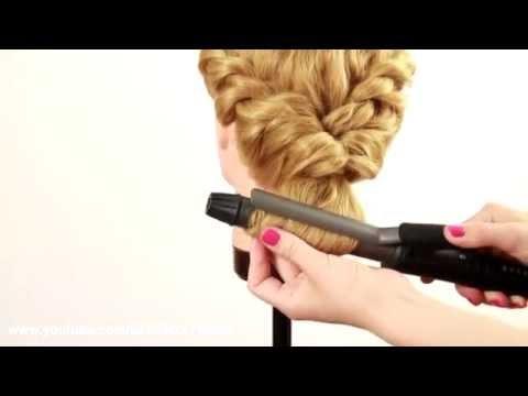Простая прическа из жгутов. Easy Twisted Hairstyle