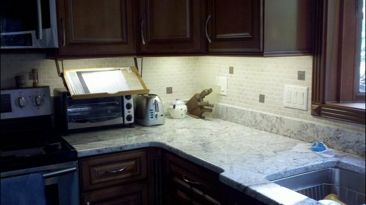 Kitchen Counter Lighting Undercabinet Led Light Strip Installation Beautiful Youtube