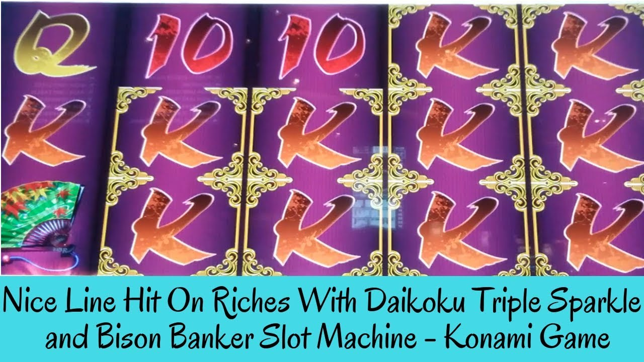 Download NICE LINE HIT ON RICHES WITH DAIKOKU TRIPLE SPARKLE and BISON BANKER SLOT MACHINE - SunFlower Slots