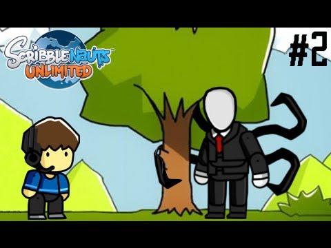 SLENDERMAN IN SCRIBBLENAUTS!! - Scribblenauts Unlimited - Parte 2