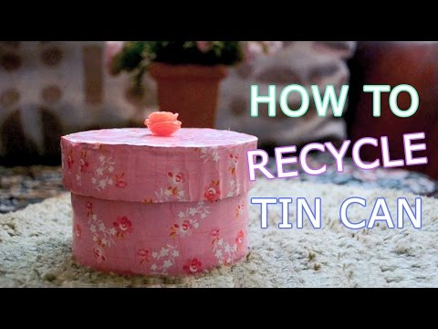 DIY Crafts: How To Recycle Tin Can - How To Make Gift Box from Tin Can - DIY Tin Can Organizer