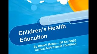 Webinars for DIET & CTE Students  Physical Health & Education.