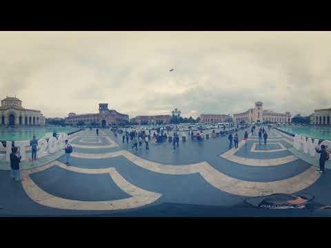 360 градусов, площадь Республики, Ереван. Ноябрь 2019