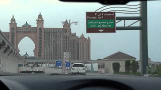 [dubai] Palm Jumeirah Road to Atlantis The Palm [1080/60p recording by DSC-HX9V]