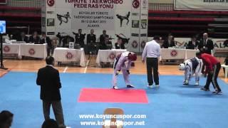 58kg Hakan Dikbas - Turan Erdem (2012 Turkish Senyor Taekwondo Championships)