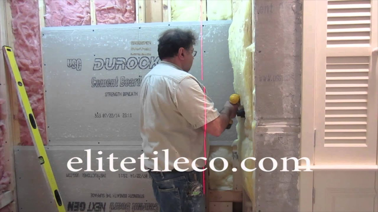 Complete Tile Shower Install Part 1 Furring Out Studs Installing Backer  Board   YouTube