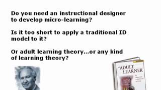 November 9, 2010: Is There Value in Micro Learning?(, 2014-01-30T16:22:34.000Z)