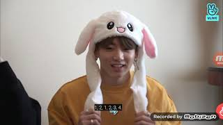 BTS and their rabbit ears.
