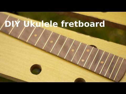 DIY UKULELE - making a fretboard.