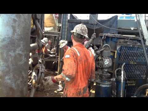 """Rowan Louisiana laying down 9 3/8"""" casing wet"""