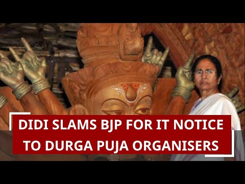 Mamata slams BJP for IT notice to Durga Puja organisers