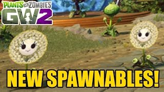 Plants vs Zombies Garden Warfare 2 - NEW SPAWNABLES! Dandelion, Flag Weed + More