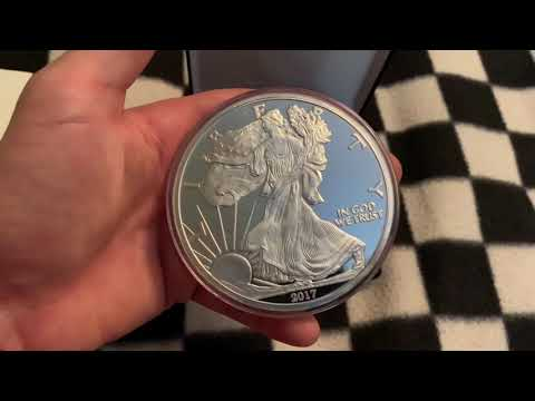 Beautiful 4 Ounce American Silver Eagle Bullion Round From Apmex