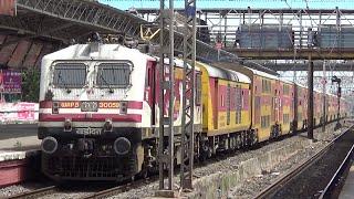 Double Decker Ac Express cruising through Santacruz, Mumbai | Indian Railways