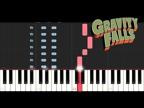 Gravity Falls Theme (Piano Tutorial)