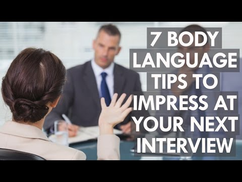 7 body language tricks to ace your next job interview