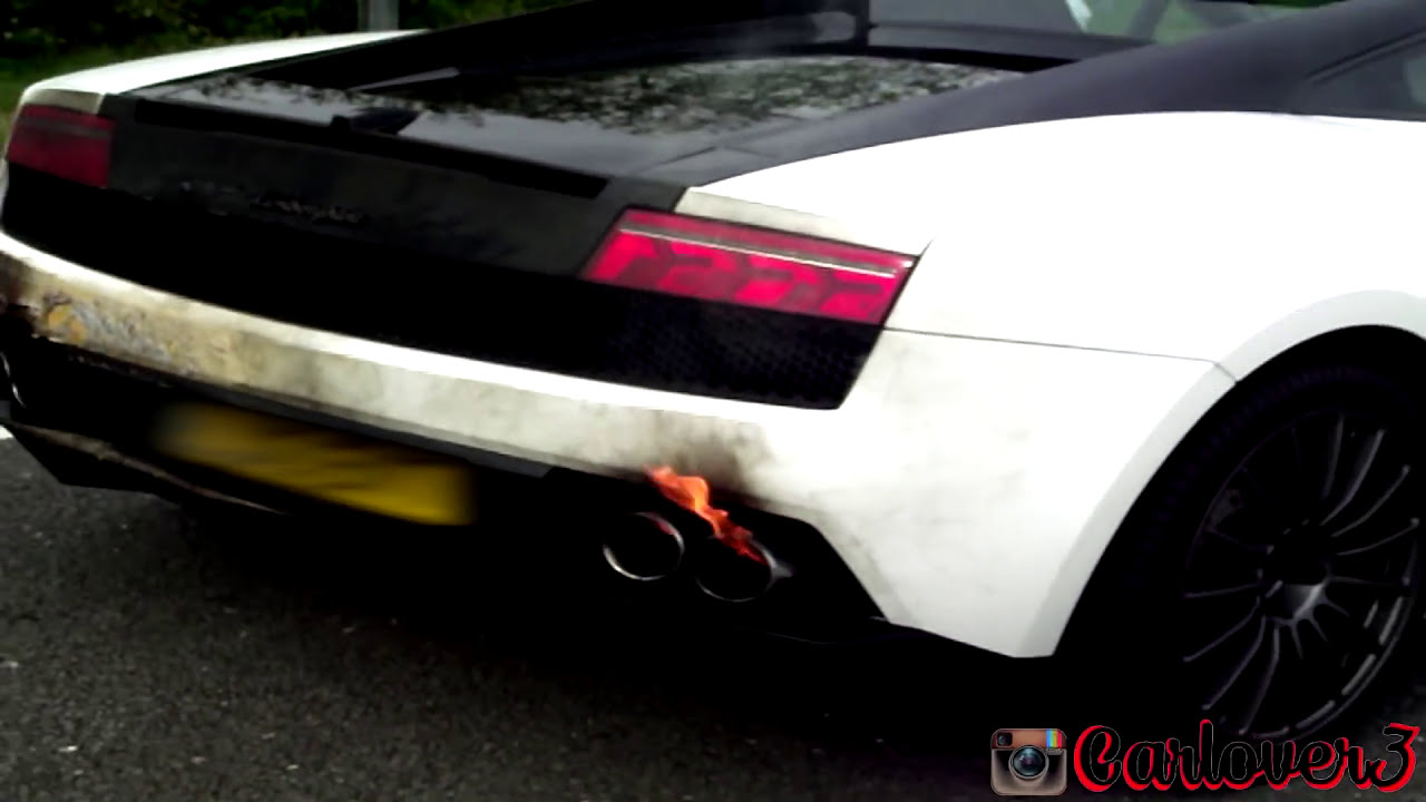 Lamborghini Lp Catches Fire Youtube