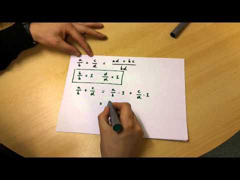 Prove that (a/b)+(c/d)=(ad+bc)/(bd) {simple explanation}