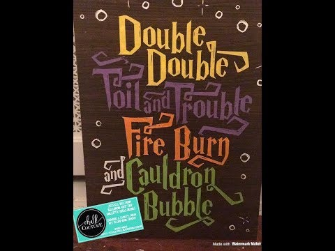"""Chalk Couture """"Double Double"""" Transfer on Cabinet Door!"""
