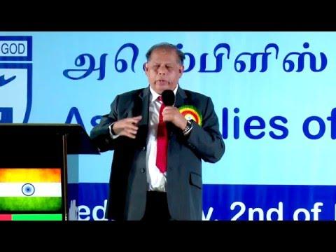 Rev. P S Rajamoni-UAE AG Good News Conference 2015