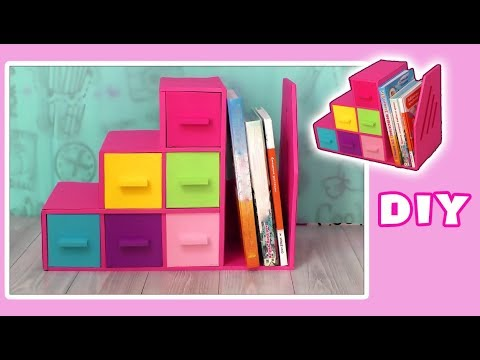 DESKTOP ORGANIZER from Cardboard// with drawers