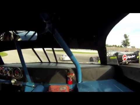 Sportsman Heat Race Crash - Lebanon I-44 Speedway - 6/6/15 - Jake Piel In-Car Camera