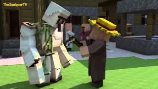 Анимация Майнкрафт: Голем фермер!