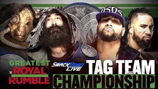 Greatest Royal Rumble: The Bludgeon Brothers vs. The Usos for the SmackDown Tag Team Championship!!
