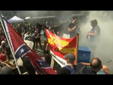 Protests in Charlottesville take a violent turn