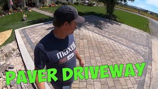 BELGARD PAVER DRIVEWAY NEARS COMPLETION