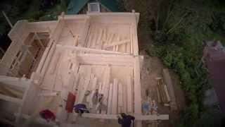Строительство дома из профилированного бруса WWW.WOODDOM.COM(Это видео о том как мы строили деревянный дом из профилированного бруса., 2014-10-20T12:27:39.000Z)