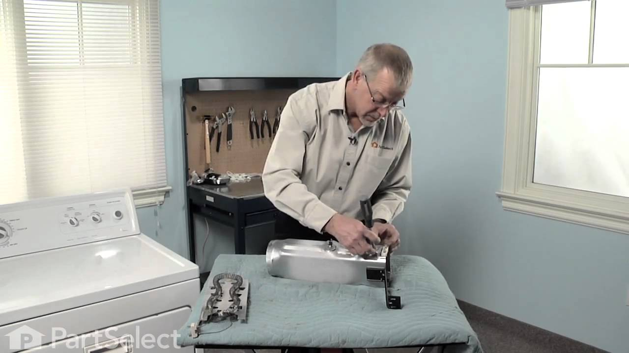 small resolution of dryer repair replacing the heater element whirlpool part 3387747 youtube