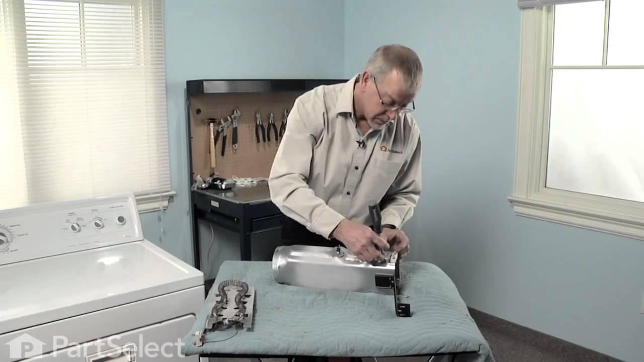 medium resolution of dryer repair replacing the heater element whirlpool part 3387747 youtube