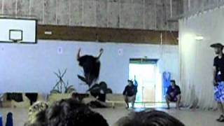 Camp Beaumont Instructor Does Ninja Flips