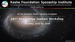 281st Knowledge Seekers Workshop - June 20, 2019