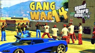 GTA 5 THUG LIFE #14 - GANG WAR BLOOD VS CRIPS