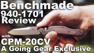 Going Gear Benchmade Exclusive 940-1701 Knife Review with C-tek, G10, and CPM-20CV