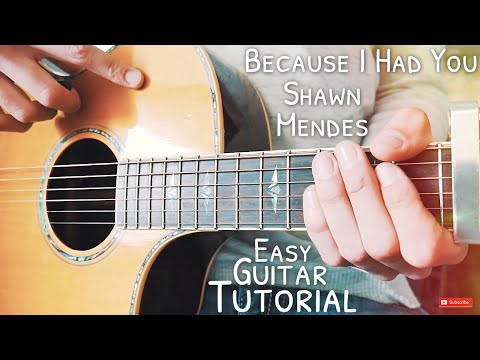 Because I Had You Shawn Mendes Guitar Tutorial // Because I Had You Guitar // Lesson #505