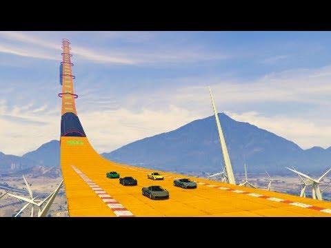 LA RAMPA MAS GRANDE DEL MUNDO - CARRERA GTA V ONLINE - GTA 5 ONLINE