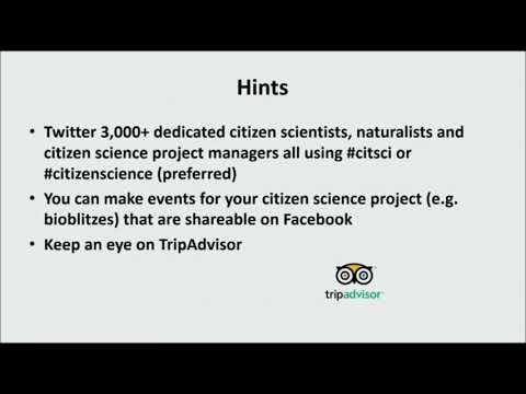 M Neil: Social Media for Citizen Science